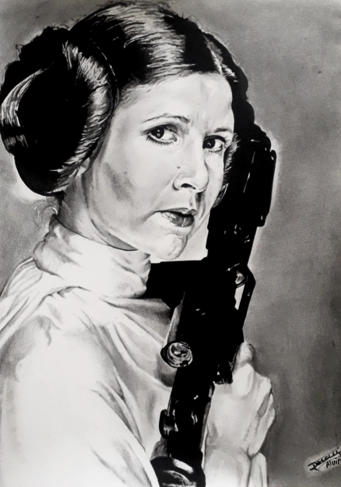Carrie Fisher by aljackson